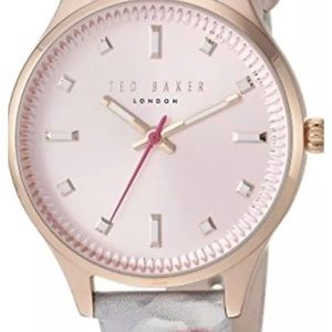 NIB Ted Baker Zoe white floral pink dial watch
